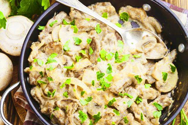 Рецепт баранины в сметане